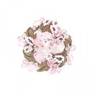 Broche Oro Viejo Vintage Rosa