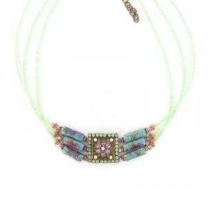 Gargantilla Vintage Perlas Cristal Abalorios