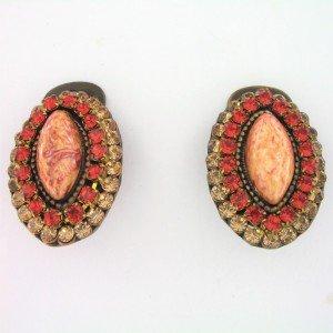 Pendientes Vintage Circonitas Piedra