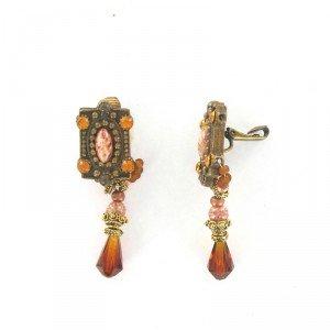Pendientes Vintage Oro Antiguo Cristales
