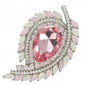 Broche rosa palo en diseño de espiga