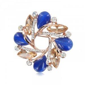 Broche Oro Rosa con lapislázuli
