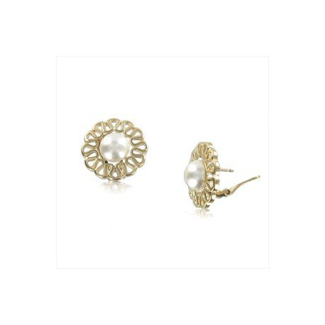 EARRING - PLATED: GOLD - IN COLOURS: WHITED