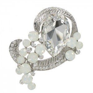 BROCHE DIAMANTE LAGRIMA