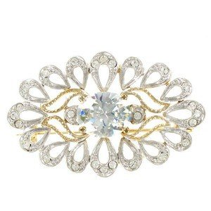 Broche Oro Cristal Perla