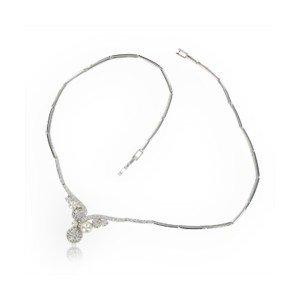 Gargantilla Oro Blanco y perlas para NOVIAS
