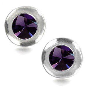 EARRING SILVER - IN COLOURS: BLUE, PURPLE