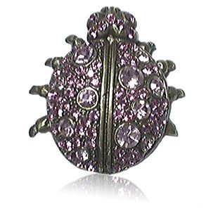 BROOCHES - PLATED: GOLD - IN COLOURS: PURPLE