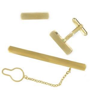 Conjunto Gemelos Alfiler Corbata Oro