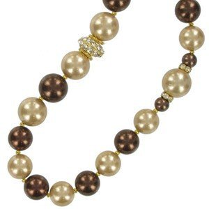 NECKLACES - PLATED: GOLD - IN COLOURS: TOPAZ, BROWN