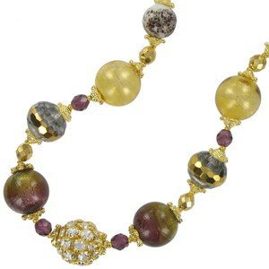 NECKLACES - PLATED: GOLD - IN COLOURS: YELLOW, TOPAZ, BROWN, CRYSTAL, PINK, MULTICOLOR