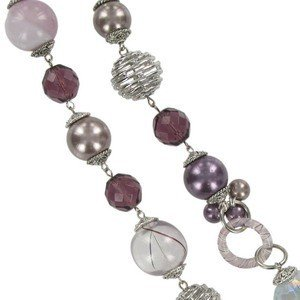 NECKLACES - PLATED: ANTIQUE SILVER - IN COLOURS: PURPLE, TOPAZ, BROWN, CRYSTAL