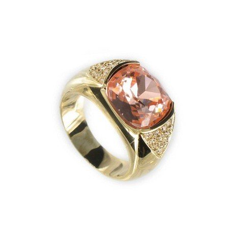 RINGS - PLATED: GOLD - IN COLOURS: TOPAZ, ORANGE