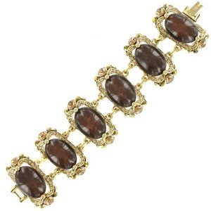 BRACELETS - PLATED: GOLD - IN COLOURS: TOPAZ, BROWN