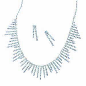 SETS - PLATED: RHODIUM - IN COLOURS: BLUE, TURQUOISE