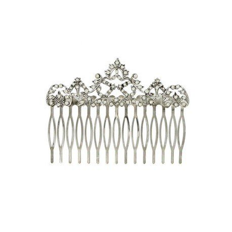 COMBS - PLATED: RHODIUM