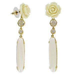 EARRING - PLATED: GOLD - IN COLOURS: YELLOW, WHITED, CRYSTAL