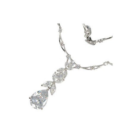 NECKLACES - PLATED: RHODIUM - IN COLOURS: CRYSTAL