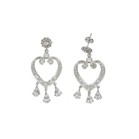 EARRING - PLATED: RHODIUM