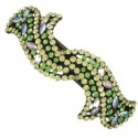 PINS - PLATED: ANTIQUE SILVER - IN COLOURS: YELLOW, GREEN
