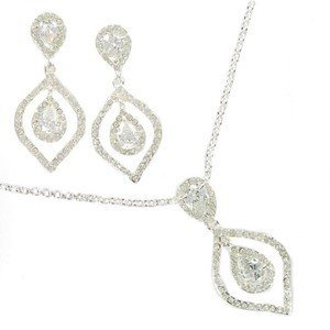SETS - PLATED: SILVER - IN COLOURS: CRYSTAL