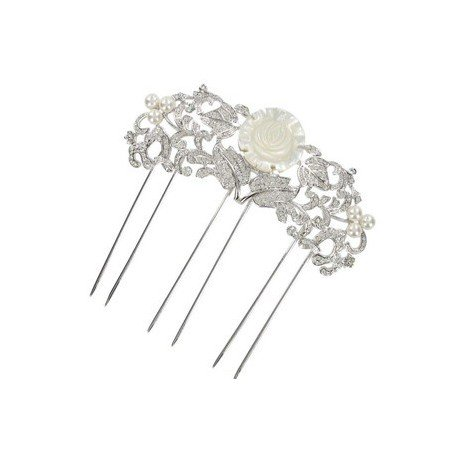COMBS - PLATED: RHODIUM - IN COLOURS: WHITED, CRYSTAL