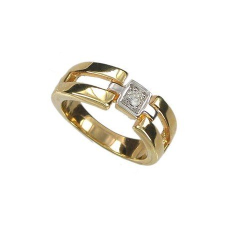 RINGS - PLATED: GOLD - IN COLOURS: CRYSTAL