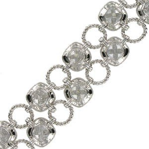 BRACELETS - PLATED: RHODIUM - IN COLOURS: CRYSTAL