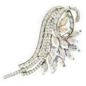 Broche Oro Blanco Cristales