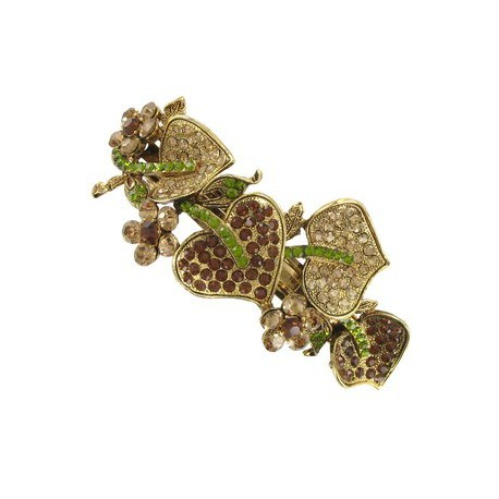 PINS - PLATED: GOLD - IN COLOURS: GREEN, TOPAZ, BROWN