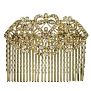 COMBS - PLATED: GOLD - IN COLOURS: CRYSTAL
