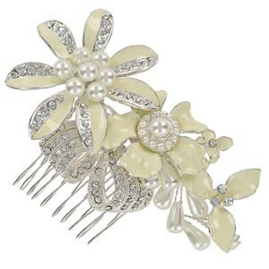 COMBS - PLATED: SILVER - IN COLOURS: WHITED, CRYSTAL