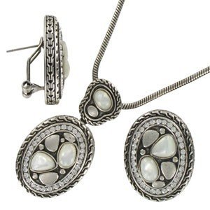 SETS - PLATED: ANTIQUE SILVER - IN COLOURS: WHITED